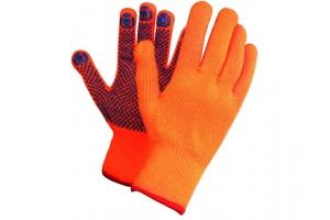 Перчатки утепленные акриловые с ПВХ точкой (с ворсом)